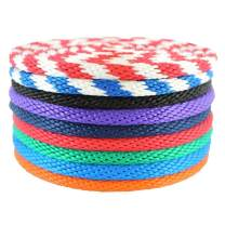 """SGT KNOTS Solid Braided Polypropylene Derby Rope - Multifilament Rope for Boating, Docks, Crafting (1/4"""" x 10ft, Black)"""