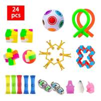 24 Pack Sensory Fidget Toys Set,Stress Relief Hand Toys for Adults Kids ADHD ADD Anxiety Autism, Perfect for Birthday Party Favors, School Classroom Rewards, Carnival Prizes, Pinata Goodie Bag Fillers