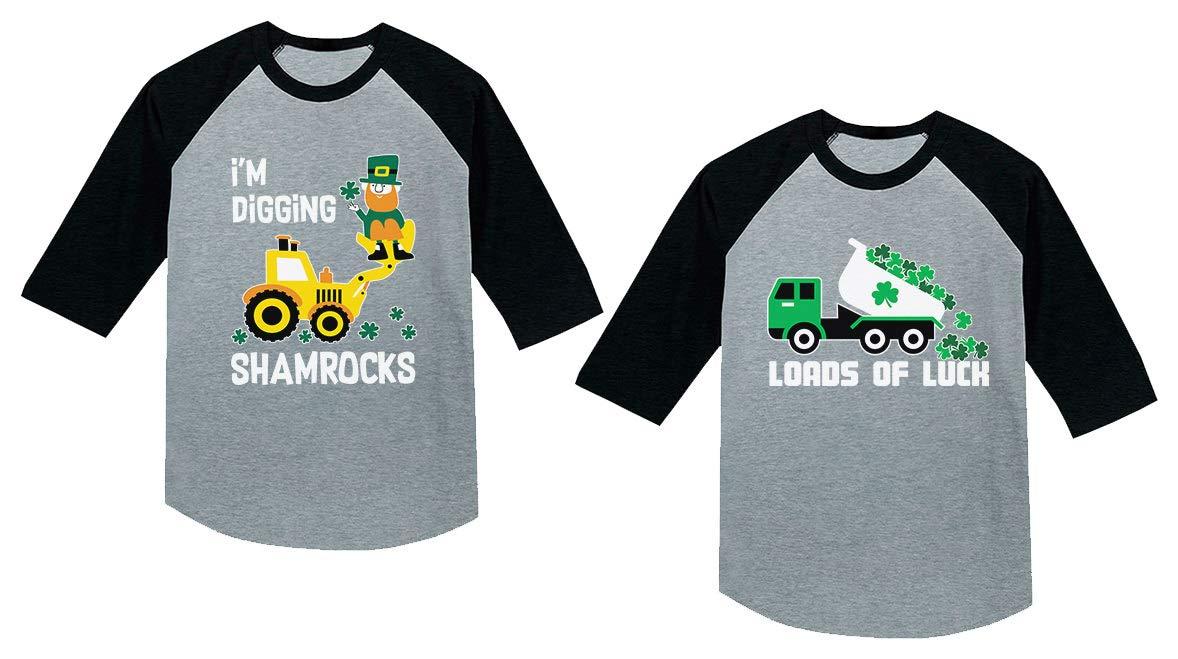 Patrick/'s Tractor Toddler Hoodie I/'m Digging Shamrocks St