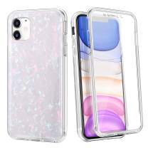 Coolden Case for iPhone 11 with Built-in Screen Protector Cute Bling Glitter Case Rugged Dual Layer Full Body Shockproof Cover Anti-Scratch Case for 2019 6.1 Inch iPhone 11 iPhone XI, Shell