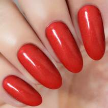 Red Nail Dipping Powder 1 Ounce/28g (added vitamin) I.B.N Acrylic Dip Powder Colors, No Need Nail Dryer Lamp Cured (DIP 043)