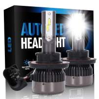 ECCPP H13 LED Headlight Bulb Hi/Lo Beam White Headlamp Conversion Kit - 80W 6000K 9600Lm 12xCSP Chips - 1 Year Warranty(Pack of 2)