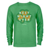The Office Dunder Mifflin Best Night Ever St. Patrick's Day Lightweight Crew Neck Sweatshirt