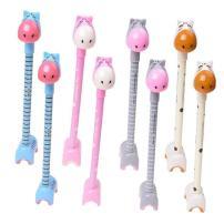 WIN-MARKET Fashion Cute Cartoon Deer Giraffe Donkey Gel Pen Creative Cartoon Ball Pen Office School Supply Stationery (6 pcs)