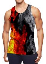 RAISEVERN Men's Tank Tops Summer Sleeveless Tee Cool Workout T-Shirts Fitness Vest Athletic Undershirts