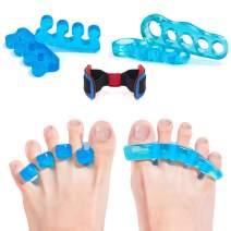 Toe Separators Gel Toes Corrector Straighteners Toe Spacers Pedicure for Yoga Bunion Hammer Toes for Women Men