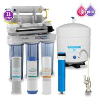Max Water 11 Stage Home Reverse Osmosis System/Reverse Osmosis Water Filtration System/RO Water Filtration System Under Sink RO Water Purifier 50 GPD UV, PH 5-1 Alkaline Water Filter CP Faucet