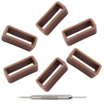 MCXGL Silicone Watch Loops for Watch Band 6 Pieces (Including Tools)