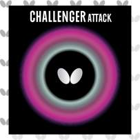 Butterfly Challenger Attack Table Tennis Rubber - Butterfly Table Tennis Rubber - 1.5 mm, 1.9 mm, or 2.1 mm - Red or Black - 1 Pips Out Table Tennis Rubber Sheet - Professional Table Tennis Rubber
