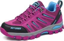 BomKinta Women's Hiking Shoes Anti-Slip Lightweight Breathable Quick-Dry Trekking Shoes for Women Rose Red Size 10