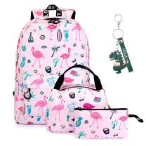SUVOM Teen Girls School Bags Backpack with Lunch Box and Pencil Case