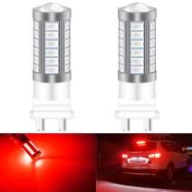 KATUR 2pcs 3157 3047 3057 3155 5630 33-SMD Red 900 Lumens Super Bright LED Turn Tail Brake Stop Signal Light Lamp Bulb 12V 3.6W