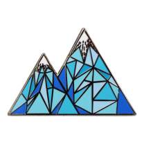 Real Sic Geometric Mountain Enamel Pin - Lapel Pin Series - Unisex Metal Pin for Bags, Shirts and Backpacks