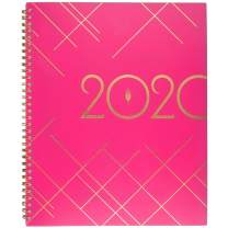 """inkWELL Press 2020 Weekly & Monthly Planner, liveWELL, 8-1/2"""" x 11"""", Large, Pink (IP641P-905)"""