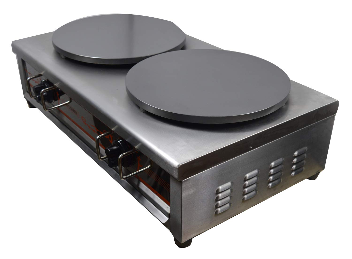 Intbuying Natural Gas Double Crepe Maker and Pancake Machine #134032