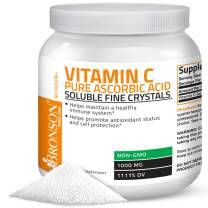 Vitamin C Powder Pure Ascorbic Acid Soluble Fine Non GMO Crystals – Promotes Healthy Immune System and Cell Protection – Powerful Antioxidant - 1 Kilogram (2.2 Lbs)