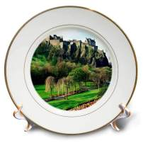 3dRose cp_54126_1 Castle in Edinburgh Scotland-Porcelain Plate, 8""