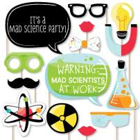 Big Dot of Happiness Scientist Lab - Mad Science Baby Shower or Birthday Party Photo Booth Props Kit - 20 Count