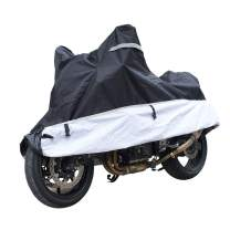 KABATEN Motorcycle Cover xl Waterproof Outdoor & Indoor Durable for Heavy Duty All Season Protector, Fits up to 104inch Motors Harley Davison Motorcycle Accessories.