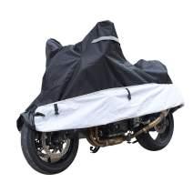 KABATEN Motorcycle Cover xl Waterproof Outdoor & Indoor Durable for Heavy Duty All Season Protector, Fits up to 104inch Motors Harley Davison Motorcycle Accessories.
