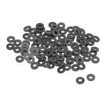 uxcell Nylon Flat Washers M2 5mm OD 2mm ID 1mm Thickness for Faucet Pipe Water Hose, Pack of 100