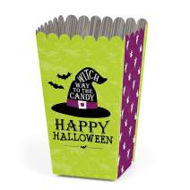 Big Dot of Happiness Happy Halloween - Witch Party Favor Popcorn Treat Boxes - Set of 12