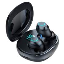 True Wireless Earbuds, Pikabo Bluetooth 5.0 Headphones in-Ear Stereo Wireless Earphones with Built-in Mic, Touch Control and LED Battery Display Charging Case, Total 18H Playtime.