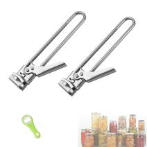 Adjustable Stainless Steel Can Opener Professional Manual Jar Bottle Opener,Good To Grip Glass Jar Bottle Opener,Suitable for Elderly People, Home, Kitchen, Camping. 2