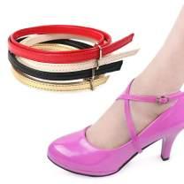 Ewanda store 5 Pairs Women's Long Detachable Suede Shoe Strap,Boat Shoe Anti Slip Shoe Straps High Heels Shoelace Accessories with Buckle(Orange)