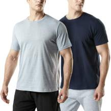 TSLA 1 or 2 Pack Men's Short Sleeve T-Shirts, Moisture Wicking Performance Workout Shirts, Dry Fit Running Athletic Shirt