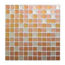 Peel and Stick Backsplash Tiles Wall Stickers Mosaic Tiles Decorative 3D Wall Decor Tiles for Bathroom Kitchen Backsplash Wall Cover Waterproof Orange White Mosaic Color(1 Tiles)