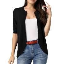 CURLBIUTY Women Short Sleeve Cardigans Casual Lightweight Knit Sweaters