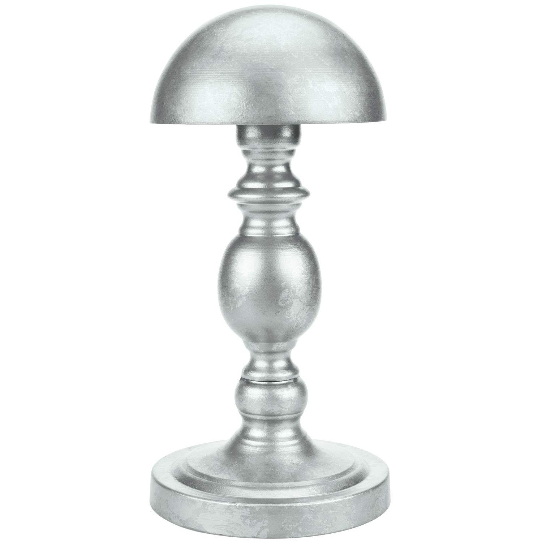 MyGift Vintage Galvanized Silver Metal Dome Shape Hat Holder/Tabletop Wig Display Rack
