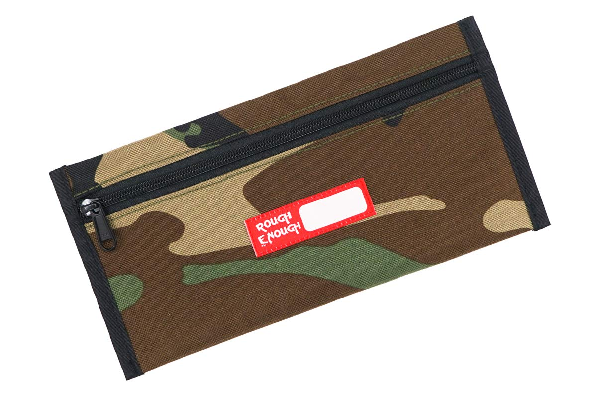 Rough Enough Small Camo Cute Pencil Case EDC Pouch Bag for Boys Kids Art Supplies Zipper Pouch for Men Travel Passport Case with Zipper in Military Army for School College Outdoor