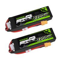 OVONIC 3S 11.1V 2200mAh 25C Lipo Battery Pack with XT60 for RC Evader BX Car RC Truck RC Truggy RC Airplane UAV Drone FPV (2 Packs)