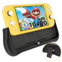 NEWDERY Battery Charger Case for Nintendo Switch Lite, Support PD & QC 3.0 Fast Charging, Built-in 10400mAh Portable Backup Charger Station, Battery Charger Stand with Kickstand & Game Card Slot