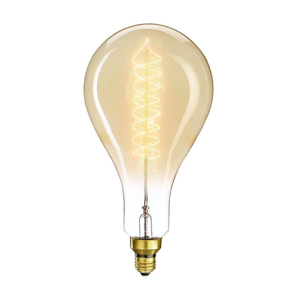 Bulbrite Incandescent PS56 Medium Screw Base (E26) Light Bulb, 60 Watt, Antique