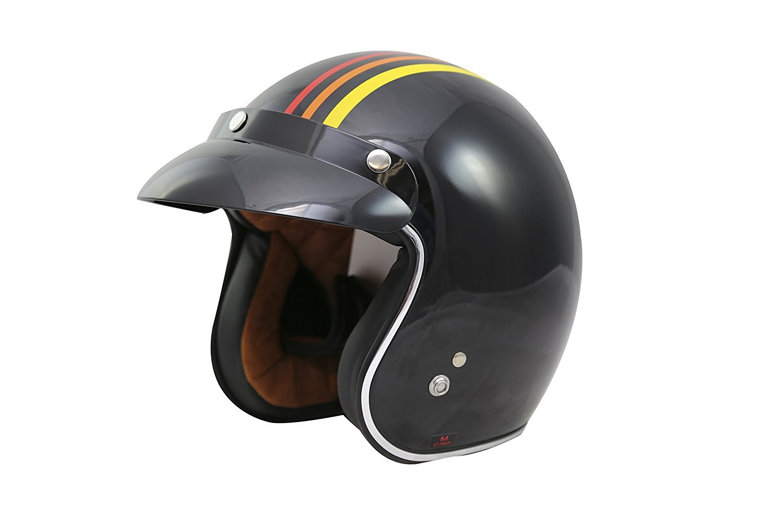 TORC unisex-adult open-face style (T50 Route 66) 3/4 Motorcycle Helmet with Graphic (1978), Small