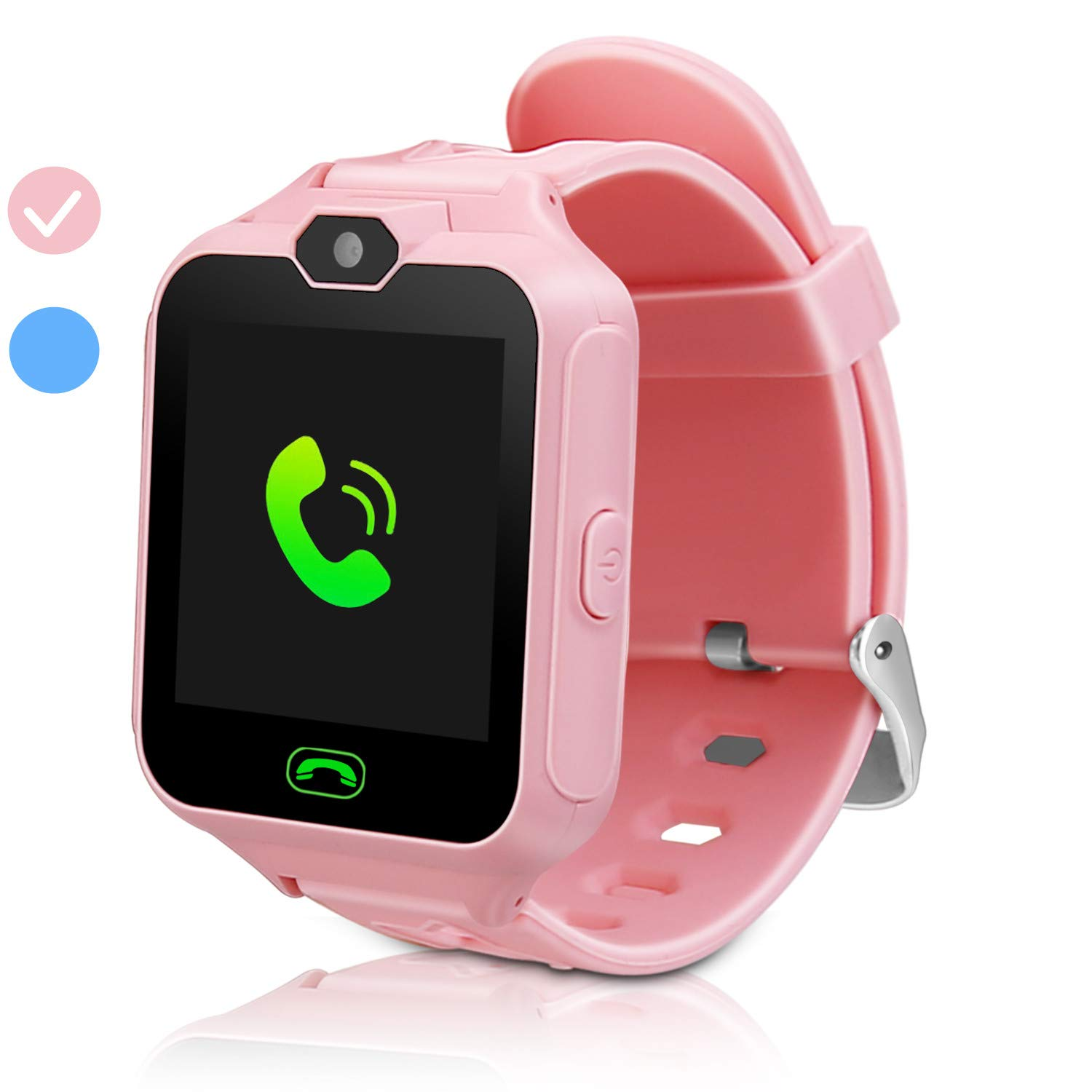 ZOPPRI Kids Smart Watches Phone Watch Girls Boys Birthday Gift for 3-15 Years Old, Pedometer with Phone and Alarm Clock, Games, and Photographic Watches Alarm Function Kids Toys Gift.