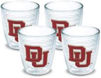 Tervis 1073219 Denver Pioneers Logo Tumbler with Emblem 4 Pack 12oz, Clear