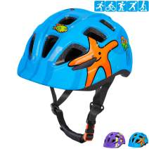 LANOVAGEAR Kids Bike Helmet CPSC Certified Impact Resistance Ventilation for Bicycle Cycling Skateboarding Scooter Roller Skate Inline Rollerblading Longboard