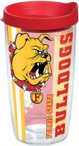 Tervis Ferris State Bulldogs College Pride Tumbler with Wrap and Red Lid 16oz, Clear