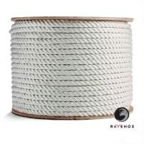 Ravenox Twisted Nylon Rope | Commercial Grade | for All Your Lifting, Pulling, Rigging, Towing, Securing and Tie-Down Needs | by The Foot and Diameter |Medium Stretch & Chemical Resistant