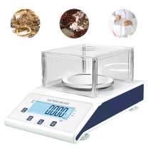 NEWTRY 0.001g High Precision Digital Lab Analytical Balance Lab Scale Electronic Precision Balance Scale for Laboratories Lab Research School Jewelry (220V EU/UK/AUPlug, 50HZ, MAX 300g 0.001g)
