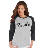 7 ate 9 Apparel Women's Bride Baseball Tee