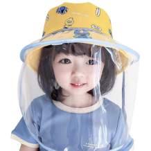 LianSan Safety Face Shields Anti-Saliva Protective Cap Cover Outdoor Fisherman Hat Mask Detachable, Face Shield Anti-Pollen (Childcap-blue)