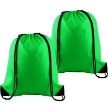 KUUQA 2Pcs Drawstring Backpack Bags Cinch Sack Bulk String Backpack Storage Bag