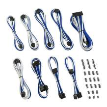 CableMod C-Series ModMesh Classic Cable Kit for Corsair AXi/HXi/RM (Yellow Label) - White/Blue [cm-CSI-CKIT-NKWB-R]