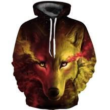 Osmyzcp 3D Hoodies Lion 3D Printed Sweatshirt Snow Hoodies Sweatshirt