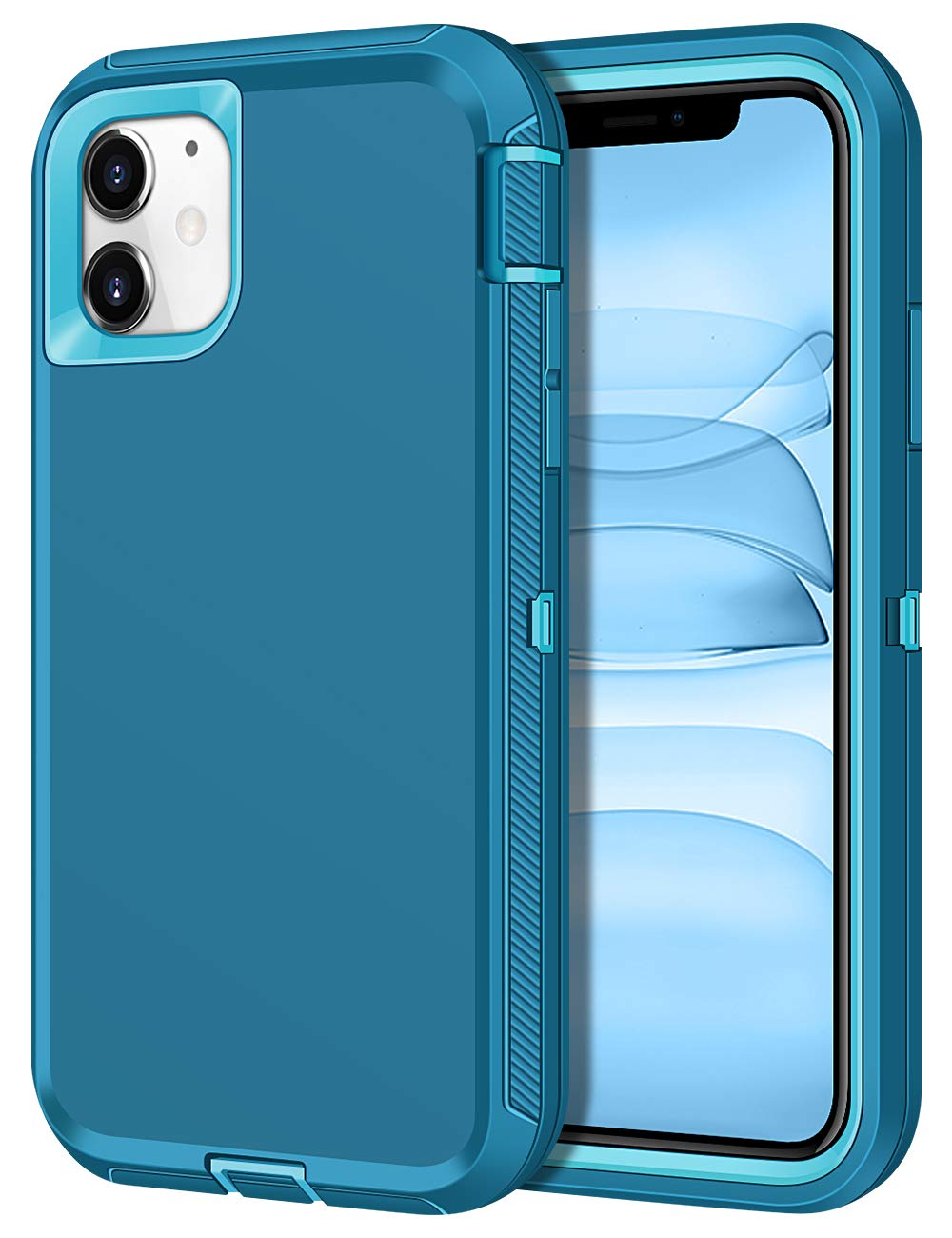 CHEERINGARY Case for iPhone 11 Case Protective Shockproof Heavy Duty Anti-Scratch Cover iPhone 11 Case for Men Women Full Body Protection Dust Proof Anti-Slip Cover for iPhone 11 6.1 inches Teal Green